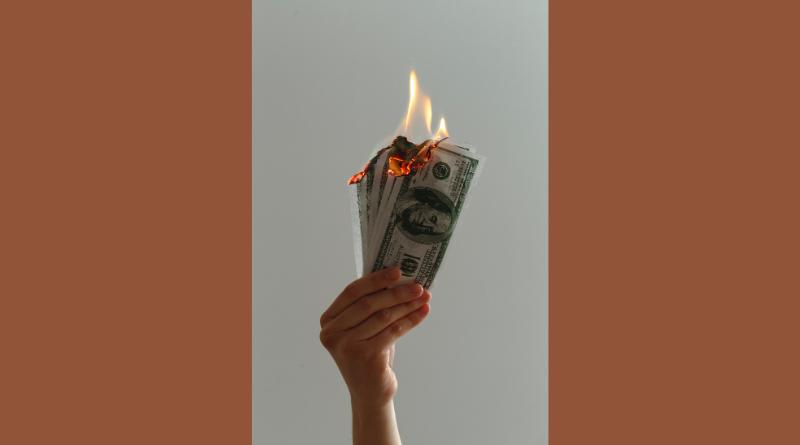Burning money
